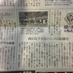 今日の朝日新聞に、「緑の旗のもとに」が掲載されてますよぉ!!(2019/10/18)