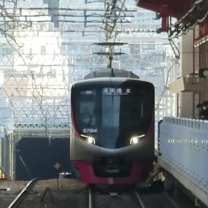 """京王5000系(5734F)""""各停 橋本行き""""電車(都営新宿線内)に乗ってきた。"""