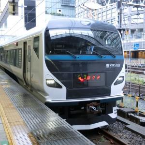朝の新宿駅で、JR東日本・夏の増発列車の写真と動画を撮影 2020/07/04