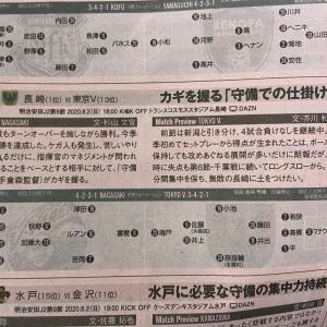 今日発売のエルゴラ、2020J2第9節・vs長崎戦(AWAY)のプレビュー記事が掲載!