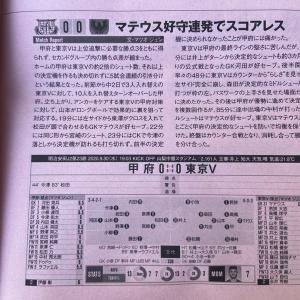 今日のエルゴラッソ 9/30 vs甲府戦(AWAY)の試合レポ記事が掲載!!