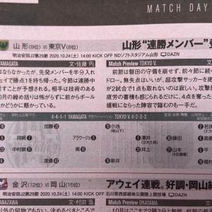 今日発売のエルゴラ、2020J2第29節・vs山形戦(AWAY)のプレビュー記事が掲載!!
