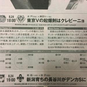 今日発売のエルゴラ、2019J2第29節・vs水戸戦(AWAY)のプレビュー記事が掲載!!