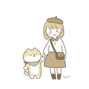 柴犬と女の子