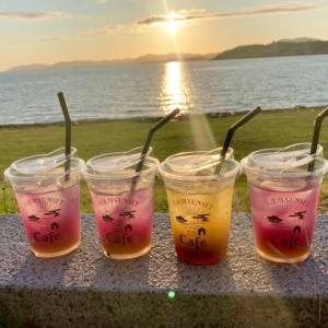 宍道湖の夕日とサンセットカフェ