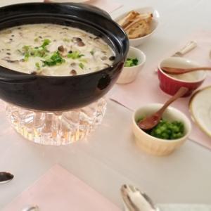 鱈と蕪のあったかミルク鍋(お料理教室)。