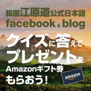 2020年第2回江原道公式ブログ名物プレゼント企画当選者発表です!!