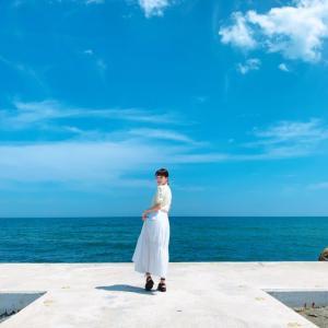 江原道高城(コソン)のどこまでも青い海