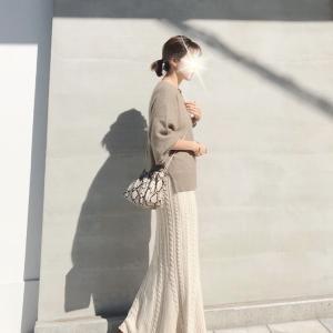 感動するほど美シルエットニットスカート‼︎/titivateボアコート着画