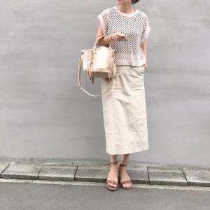 梅雨でも取り入れやすい大人カジュアルにオススメスカート!