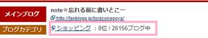 せっかく全26156ブログ中8位なので