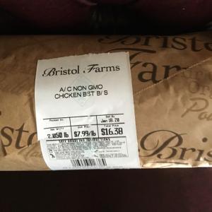 Bristol Farmsでゲットしたタダのものープロシュット、ロブスタービスク等々