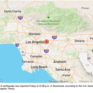 30分前にLAの東で地震!!
