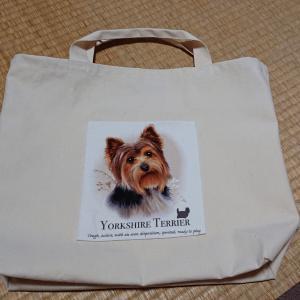 犬好きさん御用達トートバッグできました。