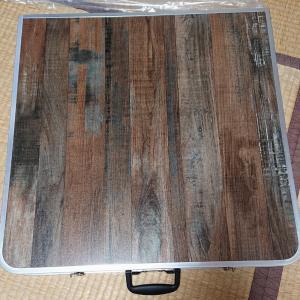 フリマ用の折り畳み式アウトドアテーブル買いました