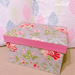 【カルトナージュ】大きな箱