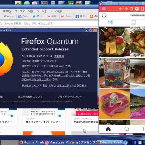 超軽量Linux:ScPupでFirefox Quantum ESRを動作させる!-PuppyLinux Firefox