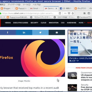 超軽量Linux:Firefoxが安全性で最高の評価を得ました!-PuppyLinux ブラウザー