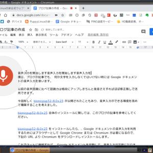 超軽量Linux:オフィシャルPuppyLinux8.0 (bionicpup32-8.0+23) で Google ドキュメントの音声入力を使う方法!-linux,puppylinux,googleドキュメント
