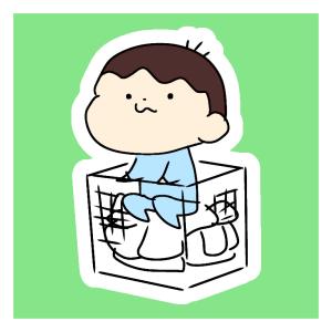 洗濯カゴが大好きすぎる2歳