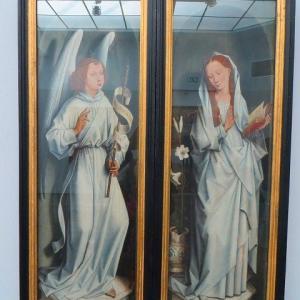 受胎告知 Annun ciation 1467 ハンス・メムリンク グルーニング美術館 展示室 NO.2