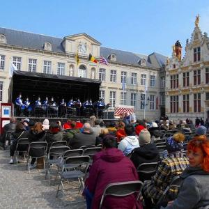 世界遺産 ベルギー ブルージュ 2019年4月 Burg ブルグ広場 演奏会に出会いました♪  新型コロナウイルスとは無縁の1年前!