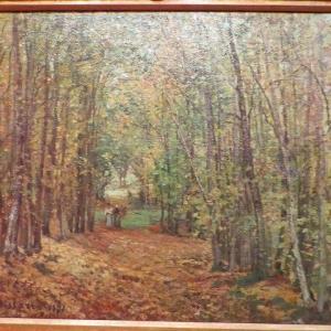 ピサロ ティッセン・ボルネミッサ美術館 マルリーの森 1871年 The Woods at Marly 1871 カミーユ・ピサロ・・・とは?