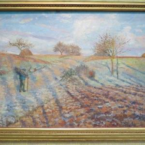 白い霜 ポントワーズ 1873年 カミーユ・ピサロ Gelee blanche 1873 オルセー美術館 ピサロが印象派展で酷評された訳・・・とは?