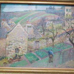 エルミタージュの丘、ポントワーズ Cuteau de I'Hermitage,Puntuise 1873 カミーユ・ピサロ オルセー美術館