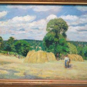 モンフーコーの収穫 オルセー美術館 La Moisson a Montfoucault 1876 カミーユ・ピサロ 第3回 印象派展 出品