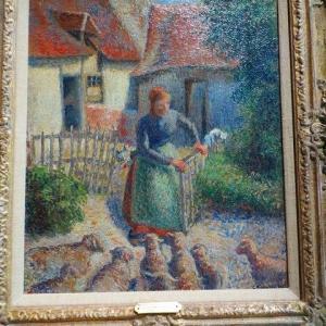 オルセー美術館 Bergere rentrant des moutons 1886 カミーユ・ピサロ Shepherdess Bringing in Sheep 1886