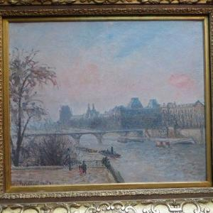 パリ散歩♪ オルセー美術館 La Seine et le Louvre 1903 カミーユ・ピサロ 最晩年