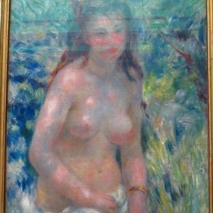 第2回・印象派展 1875年のサロン Pierre Auguste Renoir ルノワールの参加作品 陽光の中の裸婦