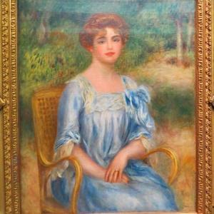 ルノワール オルセー美術館 ガストン・ベルネーム・ド・ヴィレール夫人 1901年