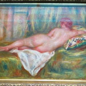 オルセー美術館 ルノワール 後ろ姿の横たわる裸婦 浴後の休息 1915年〜1917年 ルノワールとマティスの裸婦 オダリスク