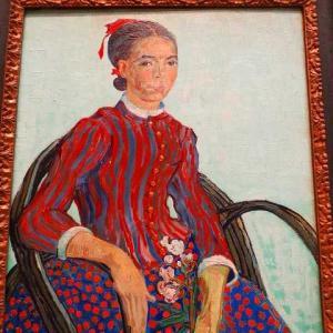 ファン・ゴッホ ムスメの肖像 1888年7月 肖像画 日本人風の肖像画 イタリア女 郵便配達人ジョセフ・ルーラン ピエール・ロチ 異国趣味小説=お菊さん