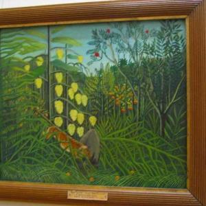第22回アンデパンダン展に参加するよう芸術家たちを導く自由の女神 1906年 アンリ・ルソー 蛇使いの女 1907年
