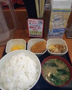 【悲報】Sガスト朝定食のご飯大盛り無料サービスが本日終了。