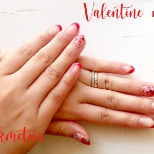 【nails】ヴァレンタインネイル