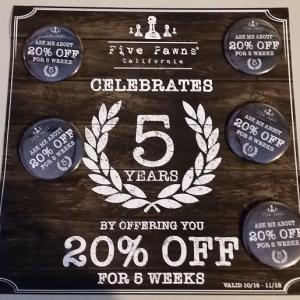 Five Pawnsが祝5周年! みんなでお祝いしましょう~