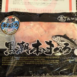 ふるさと納税!最高級 大月産本マグロ ブツ切り300g(高知県大月町)黒潮で育ったマグロ!
