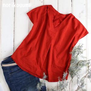 夏の布帛服試作① クルールさん V開きタックプルオーバー