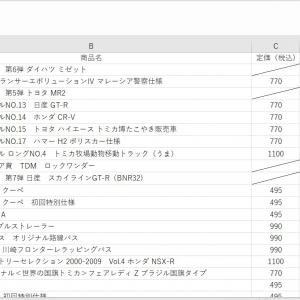 トミカ発売リスト2020の配布