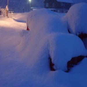 恵みの雪と 雪下ろしと 輸液