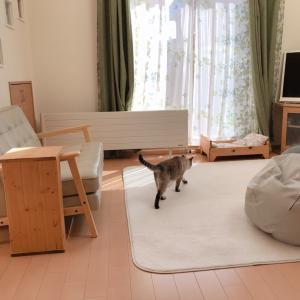 リサイクルショップ200円のローテーブルをリメイク☆