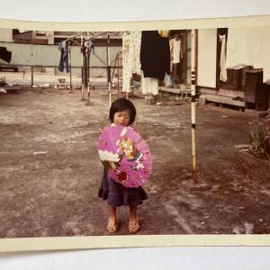 縁日で買ってもらった「キャンディ キャンディ」の番傘~昭和レトロ写真 昭和50年~