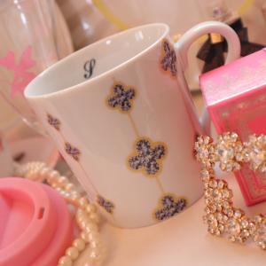 ピンクの蓋つきマグカップ♡