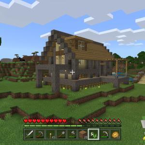 【Minecraft】拠点を建築する(友達のワールドに)