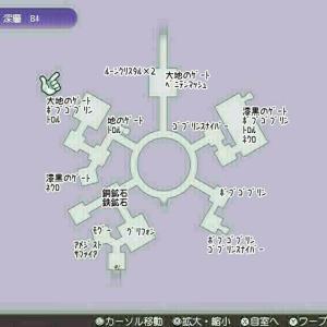 【RF5】ベルファ遺跡・深層B4モンスター分布マップ【ルーンファクトリー5】