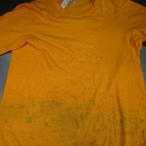 Tシャツについた他の服の色移り